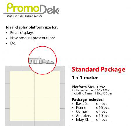 PromoDek® Package 1x1 Meter [3.3x3.3 Feet]