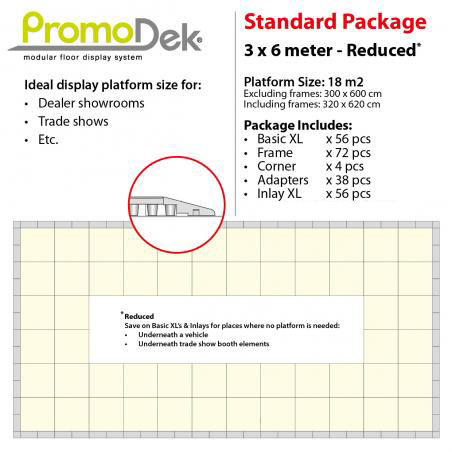 PromoDek® Package 3x6 Meter [9.8x19.7 Feet] - Reduced